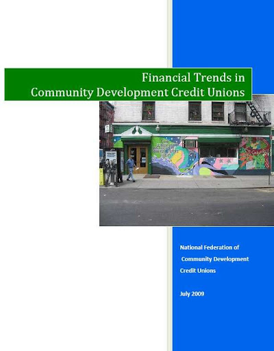 Financial Trends in Communty Development Credit Unions FY2008, Report Cover