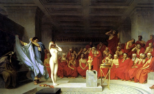 Jean-Léon Gérôme, Phryne before the Areopagus