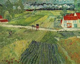 Landscape with Carriage and Train in the Background