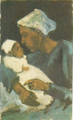 Woman (Sien?) with Baby on her Lap, Half-Figure