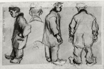 Studies of Three Peasants and a Head
