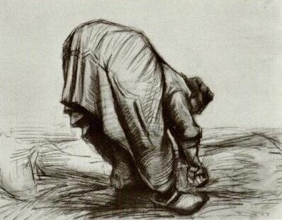 Peasant Woman, Stooping, Seen from the Back