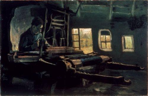 Weaver, Interior with Three Small Windows
