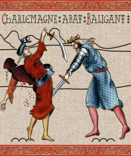 Charlemagne slaying Baligant