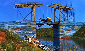 Dreams - The Langlois Bridge at Arles with Women Washing