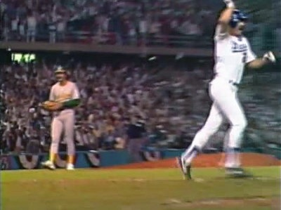 Eckersly walked off the mound 1988