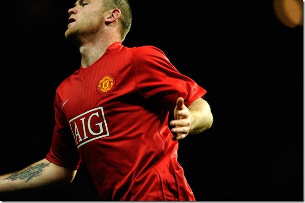 O jogador Wayne Rooney do Manchester United.