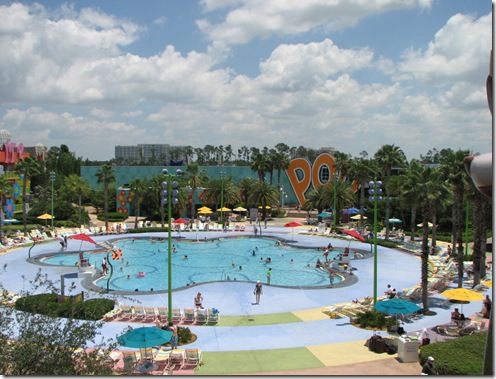 The Hippy Dippy Pool at Pop Century Resort - Walt Disney World
