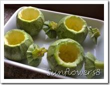 Zucchine ripiene robiola prosciutto e uova 2