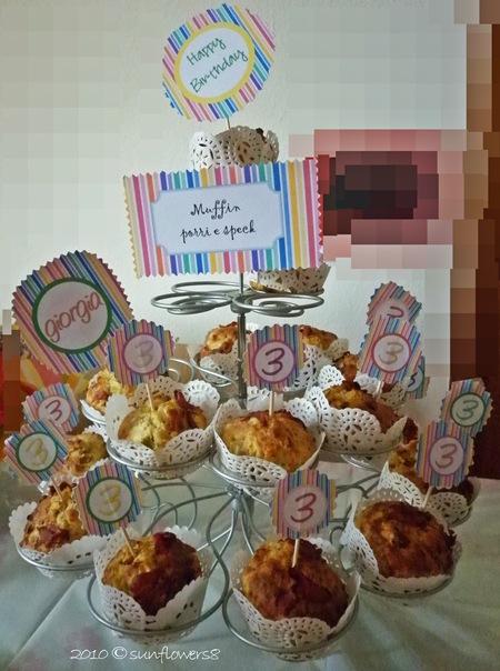 Muffin porri e speck
