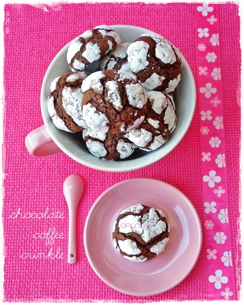 Chocolate coffee crinkle 4