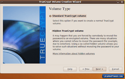 Select The Volume Type in TrueCrypt