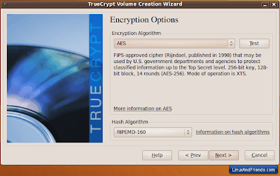 TrueCrypt Encryption Options