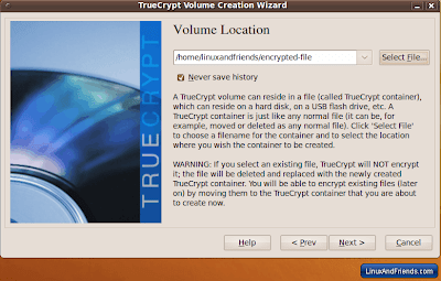 TrueCrypt Volume Location 