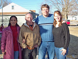 Angie and I visiting Tim and Sarah Widener in Osceola, IA