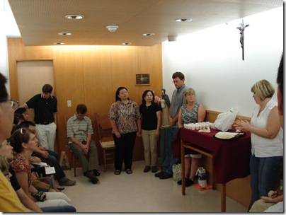 At the prayer time during communion