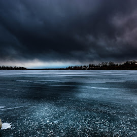 Blue Ice by Vernie Gillespie - Landscapes Weather ( winter, blue, ice, landscapes, landscape )