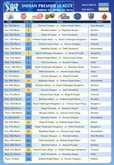 IPL 3 Schedule wallpaper 1