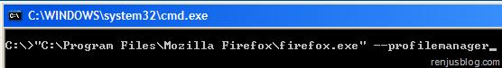 firefox profile command
