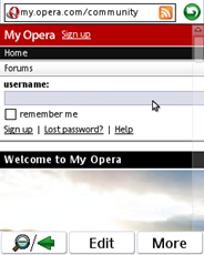 UIQ3 P1i Opera Mobile Fingertouch