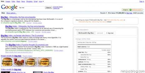 mc donalds google wolfram search result
