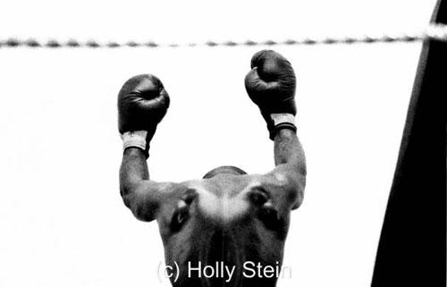 Ретро-фотография боксера