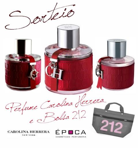 Sorteio perfume Carolina Herrera e Bolsa 212