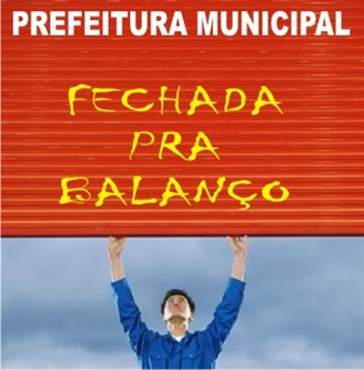 FECHADA PRA BALANÇO