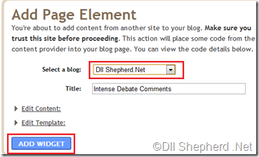 Blogger-Click-on-Add-Widget-and-choose-blog