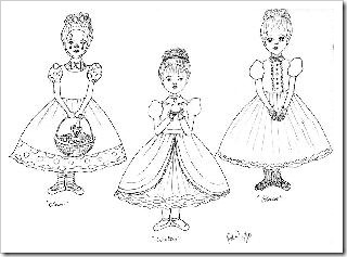 Clown, Witch & Ghost Ballerina Ornaments