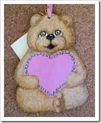 Bear Holding Pink Heart