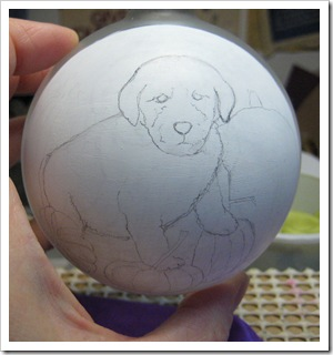 Puppy ornament before painting