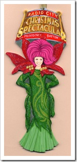 Custom Portrait Ornament -  wood cutout - Showgirl Portrait