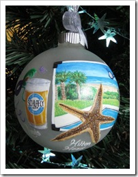 Custom Glass ornament - couple's travel destinations