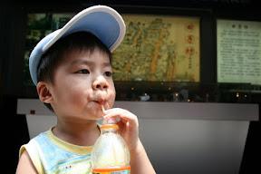 來到著名的田子坊,今日氣溫算是中等,所以逛街前來口飲料。