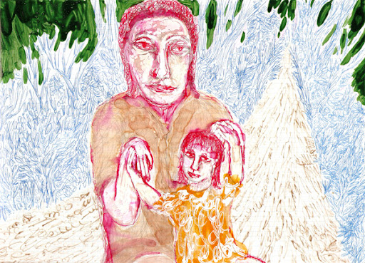 mary & jesus on the road to damascus; own work 2008