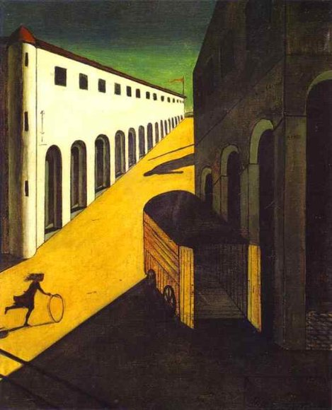 giorgio de chirico, mystery and melancholy of a street