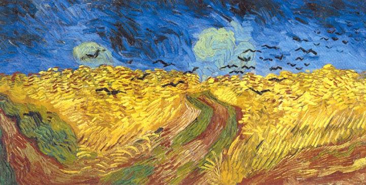Vincent van Gogh, korenveld met kraaien