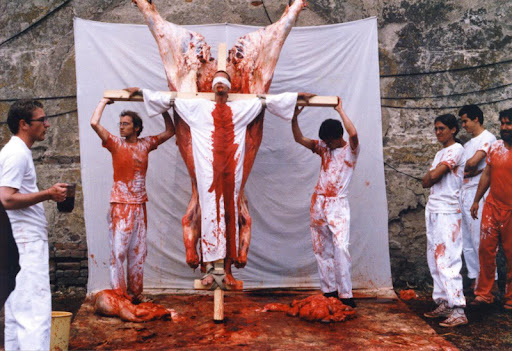 hermann nitsch, crucifixion