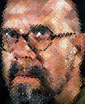 chuck close, self-portrait