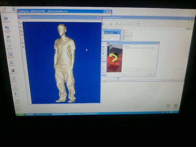 niet normaal, 3D-scan van mens