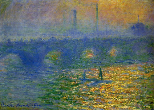 claude monet, waterloo bridge