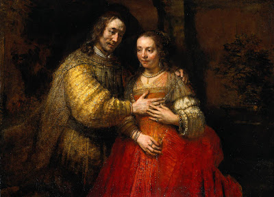 rembrandt van rijn, the jewish bride