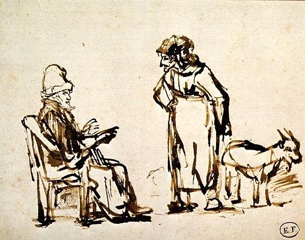 Rembrandt van Rijn, Tobit, Anna en bok