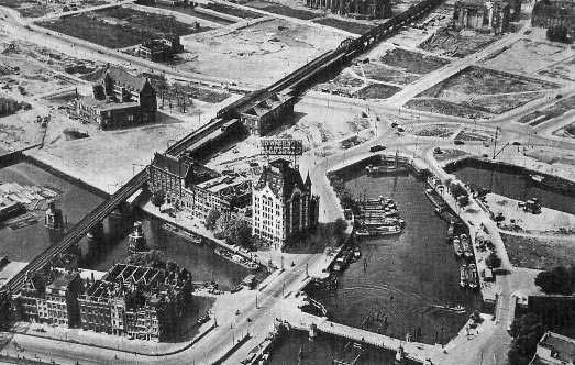 Rotterdam Oude Haven rond 1945