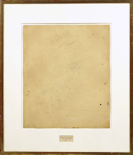 robert rauschenberg, uitgewiste tekening van de kooning