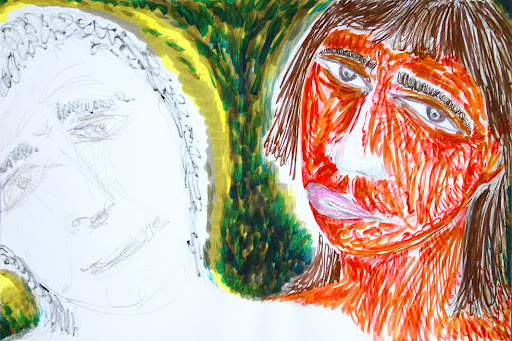 taking care of the psychiatric patient 1, drawing, own work