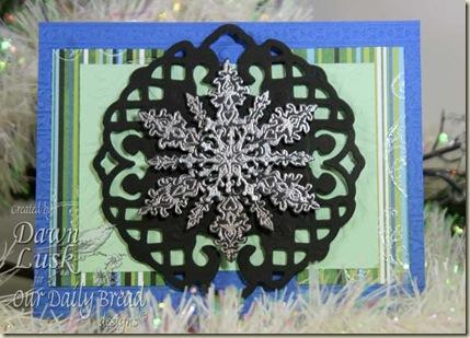SC257 Silver Snowflakes