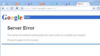 Gmail 502 Server Error