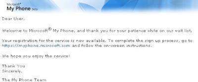 Microsoft My Phone注册信